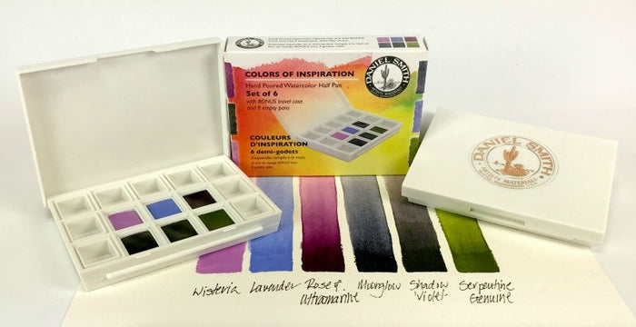 DANIEL SMITH Hand Poured Watercolor Half Pan Set – Colors of Inspiration