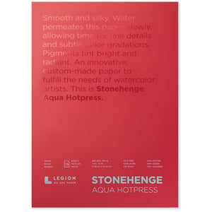 "Stonehenge Aqua Watercolour Block - Hot Press 140lb. - 7"" x 10"""