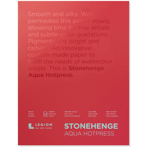 "Stonehenge Aqua Watercolour Block - Hot Press 140lb. - 9"" x 12"""