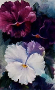 Bob Ross Floral Painting Packet - Large Pansies