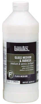 Liquitex Gloss Medium & Varnish - 32 oz. bottle