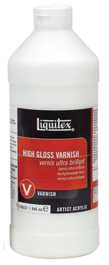 Liquitex High Gloss Varnish - 32 oz. bottle