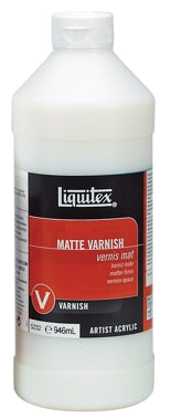 Liquitex Matte Varnish - 32 oz. bottle