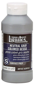 Liquitex Neutral Gray Coloured Gesso - 8 oz. bottle