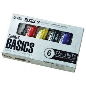 Liquitex Basics 6-Piece Set - 6 x 22 ml tubes