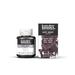 Liquitex Soft Body Acrylic Muted Collection - 2 oz. jar - Muted Grey