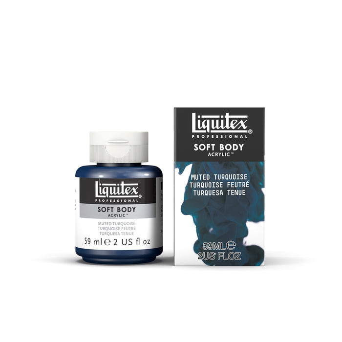 Liquitex Soft Body Acrylic Muted Collection - 2 oz. jar - Muted Turquoise