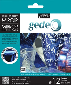 Pebeo Gedeo Mirror Effect Leaves - Blue