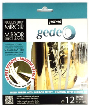 Pebeo Gedeo Mirror Effect Leaves - Gold