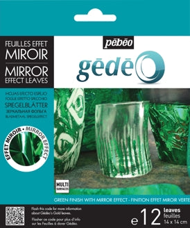 Pebeo Gedeo Mirror Effect Leaves - Green