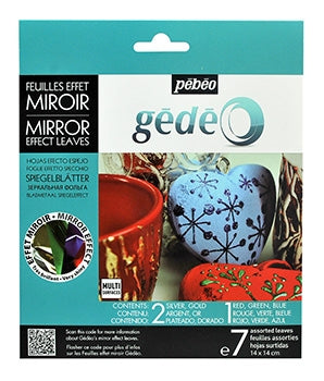 Pebeo Gedeo Mirror Effect Leaves - Assortment
