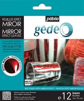 Pebeo Gedeo Mirror Effect Leaves - Red