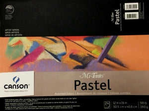 "Canson® Mi-Teintes® Pastel Pad - Assorted Colours - 12"" x 16"""