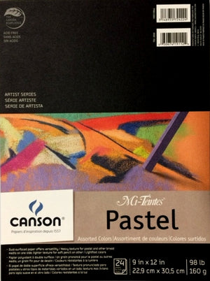 "Canson® Mi-Teintes® Pastel Pad - Assorted Colours - 9"" x 12"""