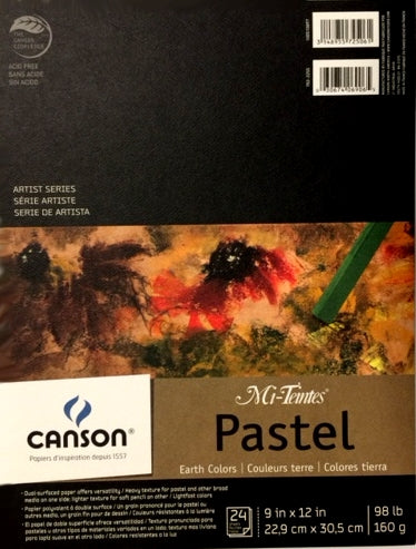 "Canson® Mi-Teintes® Pastel Pad - Earth Colours - 9"" x 12"""