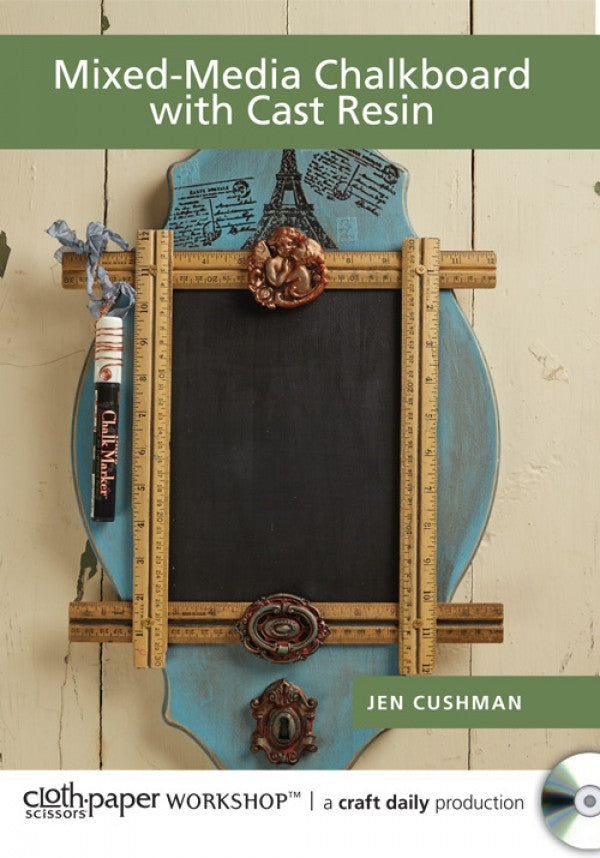 Mixed-Media Chalkboard with Cast Resin with Jen Cushman