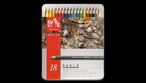 Caran D'Ache Pablo Coloured Pencil - 18 colour