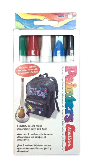 Painters Medium Opaque Paint Marker Set - Basic Colours