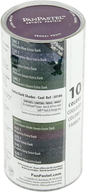 PanPastel - 10 Colour Extra Dark Shades Cool Set