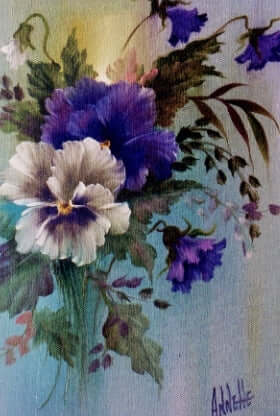 Bob Ross Floral Painting Packet - Pansies