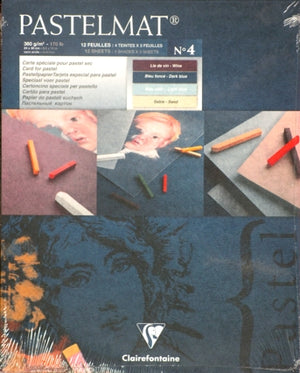 "Clairefontaine Pastelmat Pastel Pad - 12"" x 16"" - Selection ""C"""