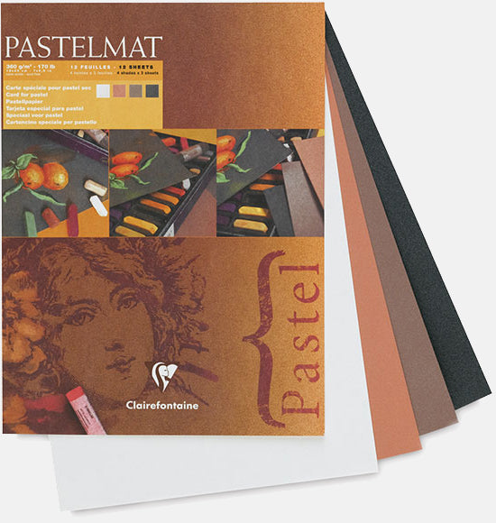 "Clairefontaine Pastelmat Pastel Pad - 12"" x 16"" - Selection ""A"""