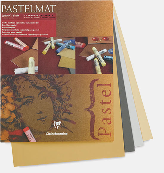 "Clairefontaine Pastelmat Pastel Pad - 9"" x 12"" - Selection ""B"""