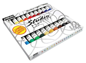 Pebeo Studio Acrylics - 20 x 20 ml Tube Set