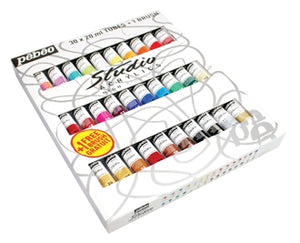 Pebeo Studio Acrylics - 30 x 20 ml Tube Set