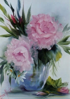 Bob Ross Floral Painting Packet - Pink Roses in Glass