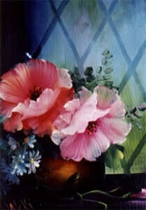 Bob Ross Floral Painting Packet - Poppies in a Window