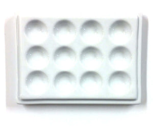 12 Well Medium Porcelain Tray Palette