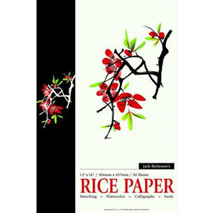 "Rice Paper Pad - 12"" X 18"" 50 Sheets"