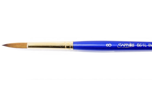 Daler Rowney Robert Simmons Sapphire Long Handle Brush - S61L Round #8
