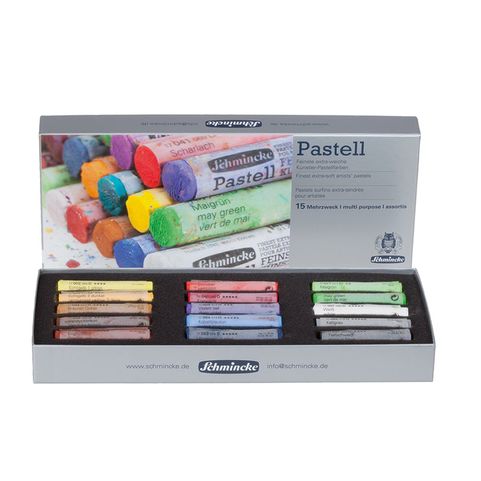 Schmincke Finest Extra-Soft Artists´ Pastels Set of 15 - Multi-Purpose Set