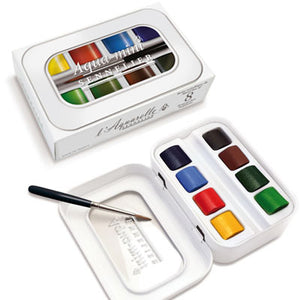 Sennelier Aqua Mini Watercolour Set of 8 Half Pans