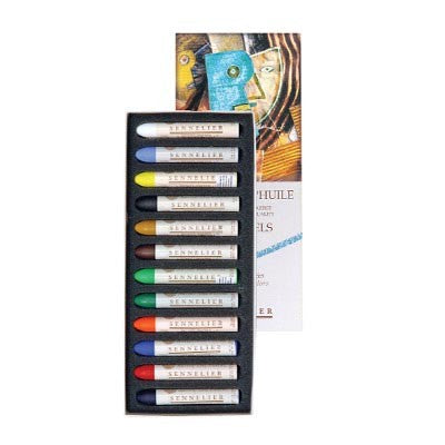 Sennelier Oil Pastel 12 Assorted Introductory Colours Set