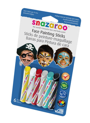 Snazaroo Face Painting Sticks Set of 6 Boys