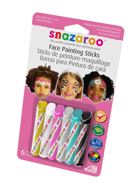 Snazaroo Face Painting Sticks Set of 6 Girls