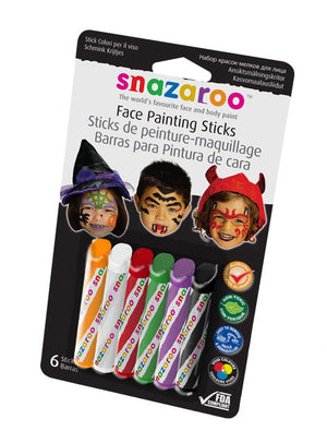 Snazaroo Face Painting Sticks Set of 6 Halloween