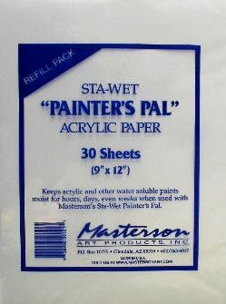 "Sta-Wet Painter's Pal Palette Refill Paper - 9"" x  12"""