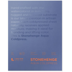 "Stonehenge Aqua Watercolour Block - Cold Press 140lb. -  10"" x 14"""