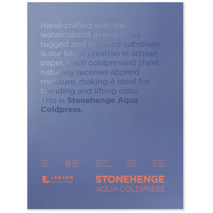 "Stonehenge Aqua Watercolour Block - Cold Press 140lb. -  12"" x 16"""