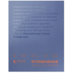 "Stonehenge Aqua Watercolour Block - Cold Press 140lb. -  9"" x 12"""