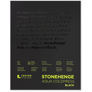 "Stonehenge Aqua Black Watercolour Block - Cold Press 140lb. - 8"" x 10"""