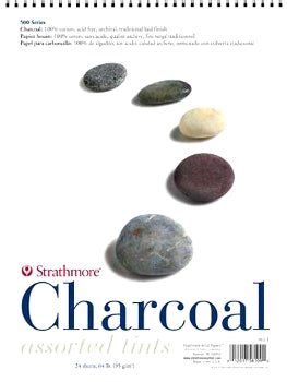 "Strathmore 500 Series Charcoal - 12"" x 18"" - Assorted Tints"