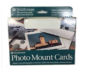 Strathmore Photo Mount Cards - 10 pack - White Decorative Embossed Border