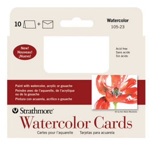 Strathmore Watercolor Cards - Full Size - 10 pack