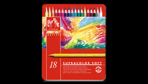 Caran D'Ache Supracolor Soft Watersoluble Pencil - 18 colour