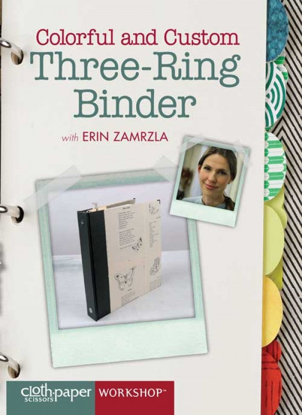 Colorful and Custom Three-Ring Binder with Erin Zamrzla